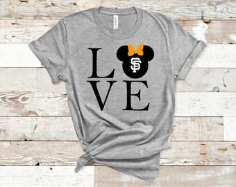 a265957db2d602 Love SF Giants Minnie Mouse Shirt