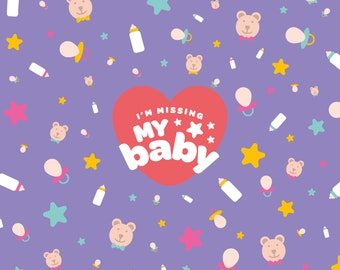 I'm Missing My Baby - Greetings Card