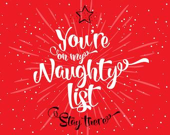 My Naughty List - Greetings Card