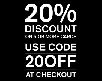 20% off when you buy 5 or more cards