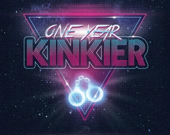 Retro One Year Kinkier - Greeting Card