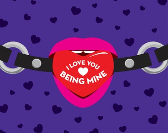 I Love You Being Mine - Greetings Card