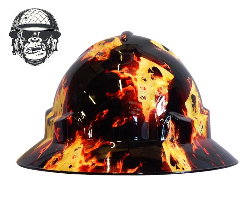 HULK Australian customized wide brim hard hats Hydrographic Safety Hard Hat