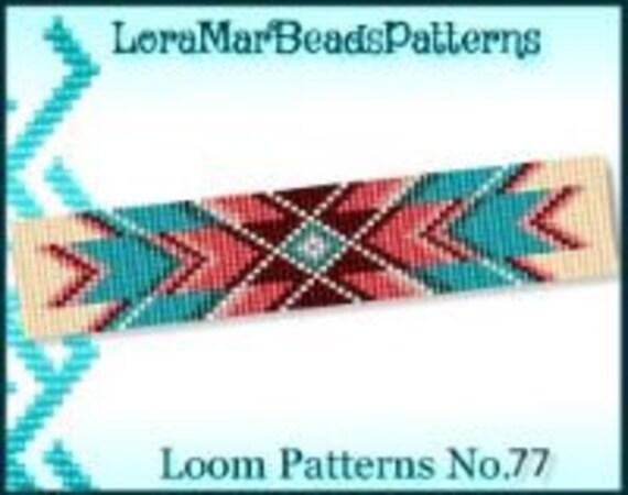 Delica Bead Loom Pattern No.77 Native American Colors Loom Etsy