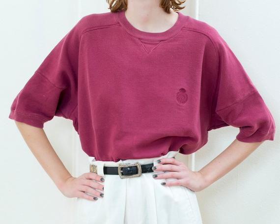 vintage gap red short sleeve sweatshirt xl | 90s r