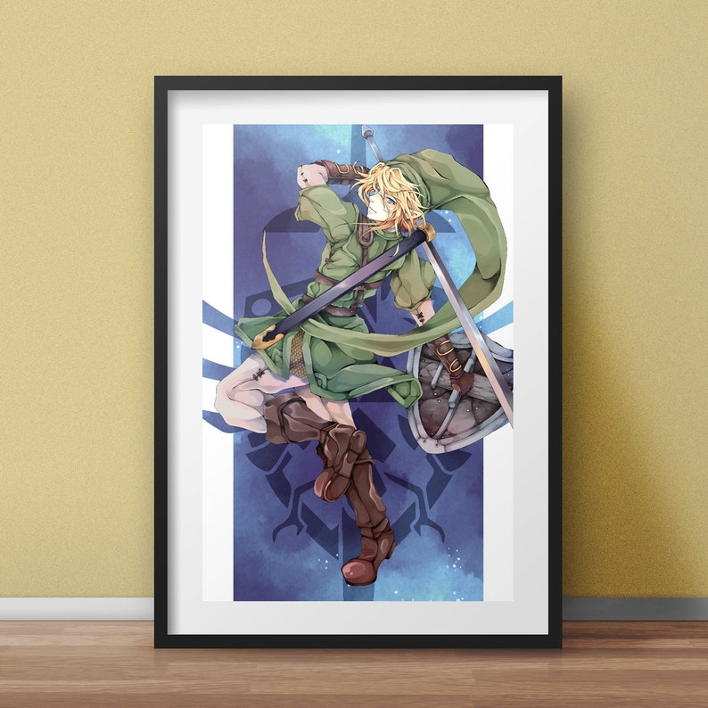 Legend Of Zelda Link Poster Ocarina Of Time Wall Art Zelda Etsy