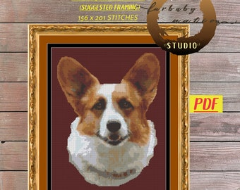 Welsh Corgi Cross Stitch Pattern, XStitch PDF Pattern Download,  How To Cross-Stitch Included with Chart
