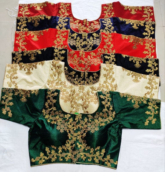 Readymade Beautiful 6 color Embroidery sequence work  with back hook Blouse B01