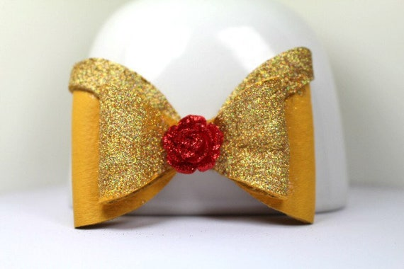 Beauty and the beast leather bow