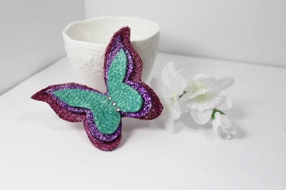 butterfly hair bow on a clip or headband