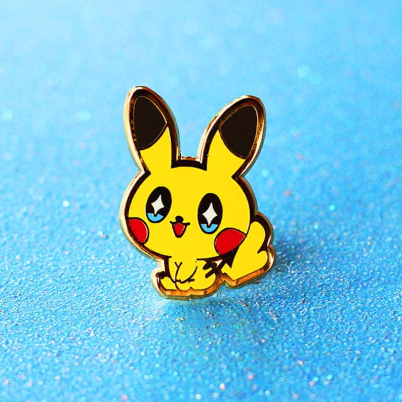 Pokemon Baby Pikachu Heart Tail Female Hard Enamel Pin   Etsy