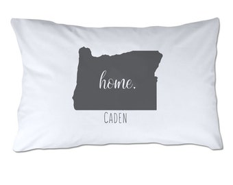 e7225d08d7 Personalized State of Oregon Home Pillowcase - Personalized Pillowcase -  Standard Size Pillowcase - 20x32