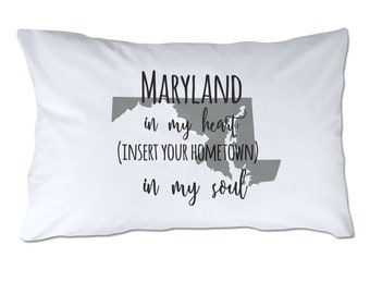 Maryland Pillow Case Etsy