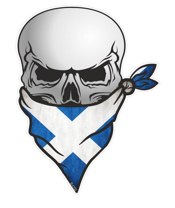 Skull With HEAD Bandana Italy Italian il Tricolore Flag vinyl car sticker decal