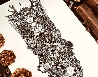 Freya | Hand signed print | Norse Gods collection