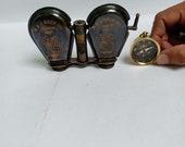 Vintage Brass Binocular Antique Folding Monoculor Nautical Telescope Spyglass
