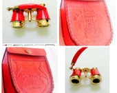 Binoculars Solid Brass Opera Glasses Mother Vintage Look Red looking best gifted father days