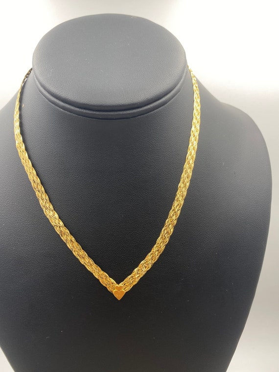 14k Yellow gold choker