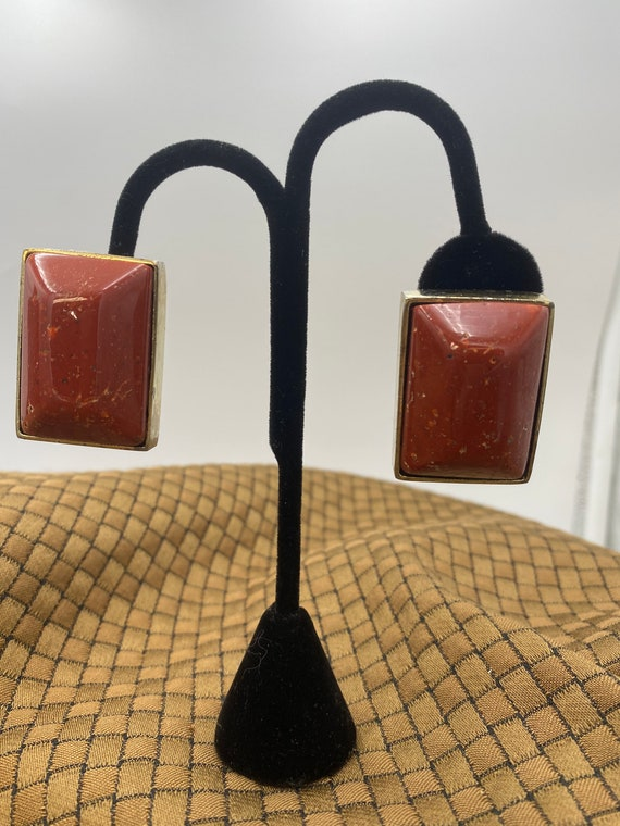 Vintage Les Bernard  clip-on earrings