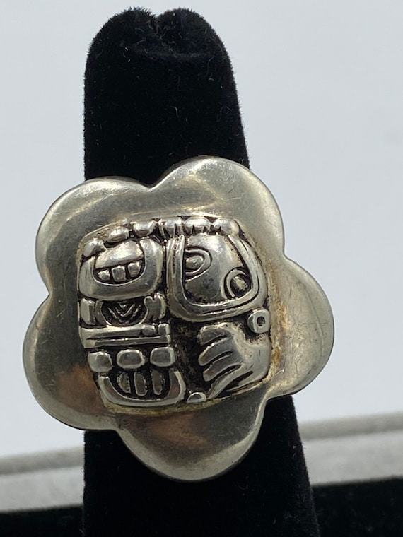 Mexican Sterling silver Aztec ring