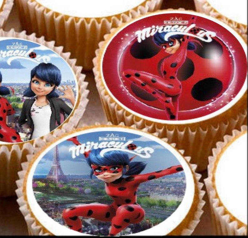MIRACULOUS LADYBUG EDIBLE WAFER /& ICING PERSONALISED CAKE TOPPERS DECORATION