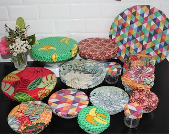 Lot or unit: Charlotte bowl bowl pie cake ecological lid zero waste ZD covers flat Fruits flowers pop Mother's Day