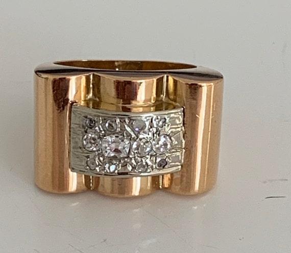 Ring Tank Tank Gold Yellow Diamonds 40s