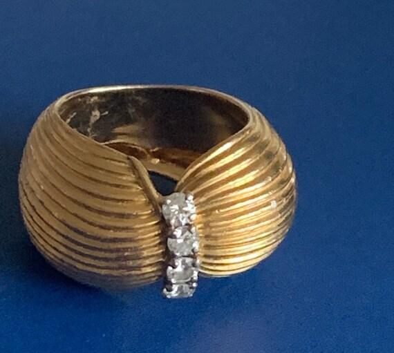 Ring Turban Gold Yellow Diamonds