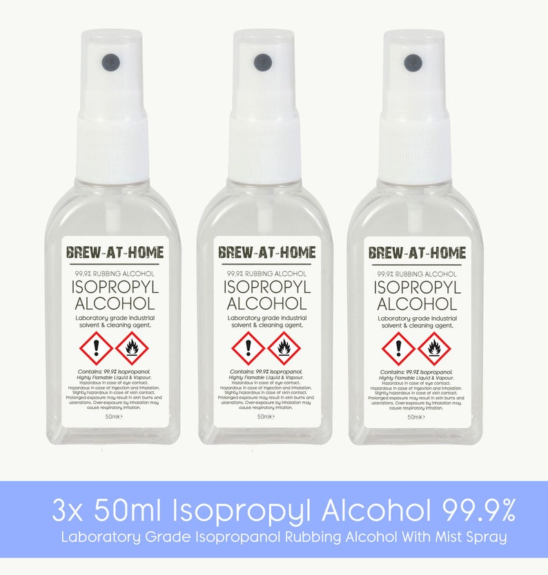 50ml Isopropyl Alcohol 99 9% Pure With Atomiser Spray - Isopropanol Rubbing  Alcohol IPA