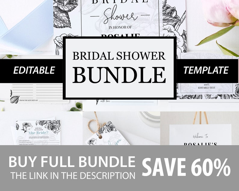 Modern Bridal Shower Advice Card Advice Card Template Printable Bridal Rose Advice Card #003 Instant Download Editable Bridal Advice Card