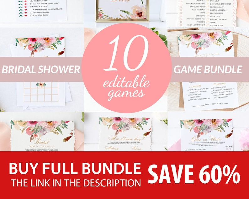 Would She Rather Editable Bridal Game Template Instant Download Bridal Shower Game Wedding Shower Game Printable Bridal Shower Game #001