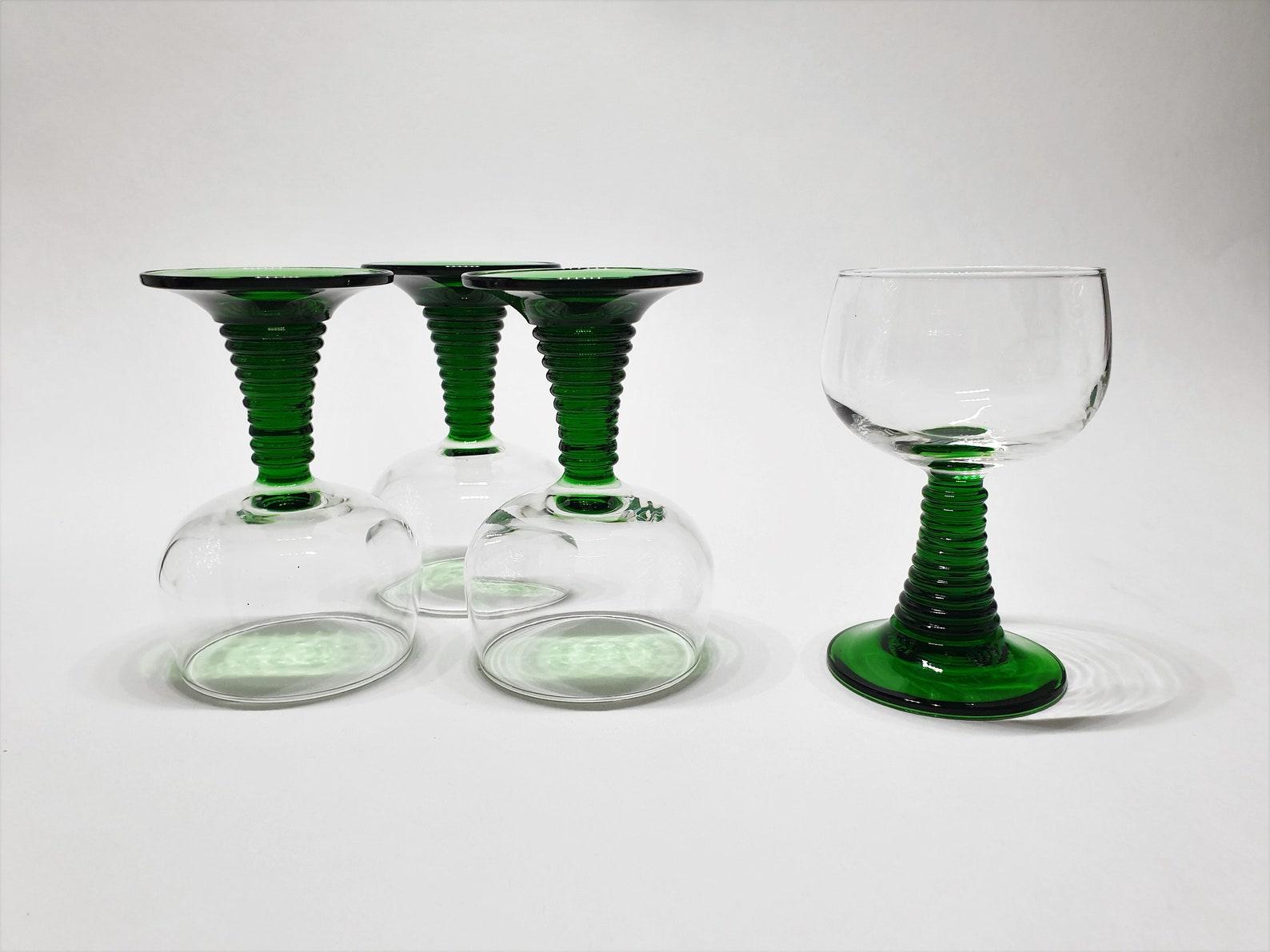 4 Beautiful Roemer Wine Glasses4 Beautiful Roemer Wine Glasses