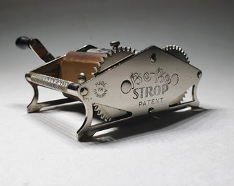 RARE - Antique German Razor Blade Sharpener Stropper Be-Be Strop, Shaving Collectibles, Victorian Shaving, Vintage Friesland.