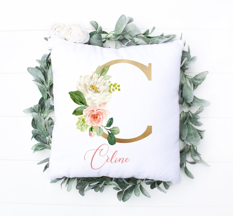 Floral Personalized Pillow For Baby