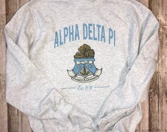 ADPI Black Box Tee Alpha Delta Pi T-shirt Sorority Big Little Gift Idea