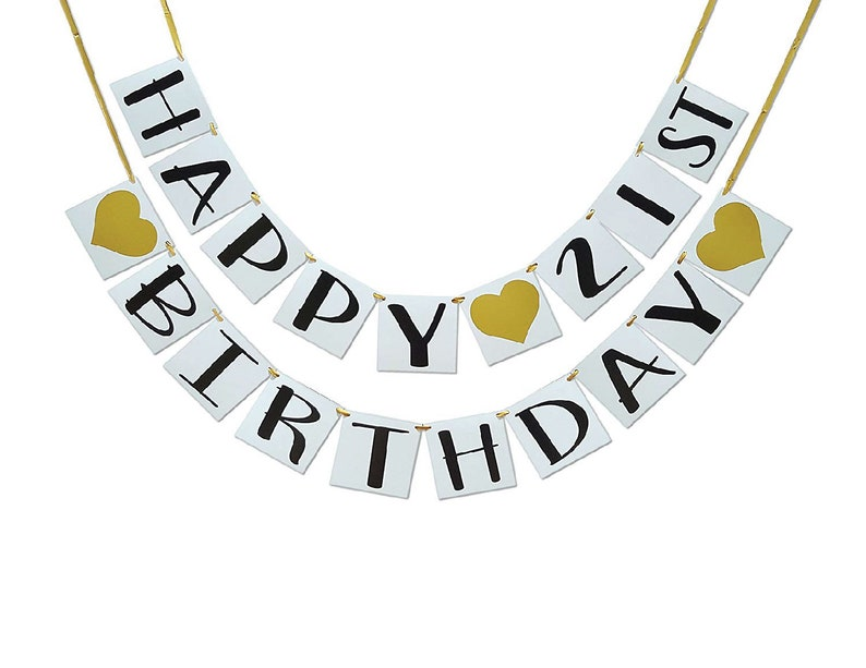 Birthday Party Supplies 21st Birthday Party Decorations 21st Birthday Party Banner Happy 21st Birthday Banner