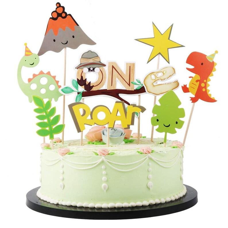 Dinosaur ONE First Birthday Cake Topper Boys 1st