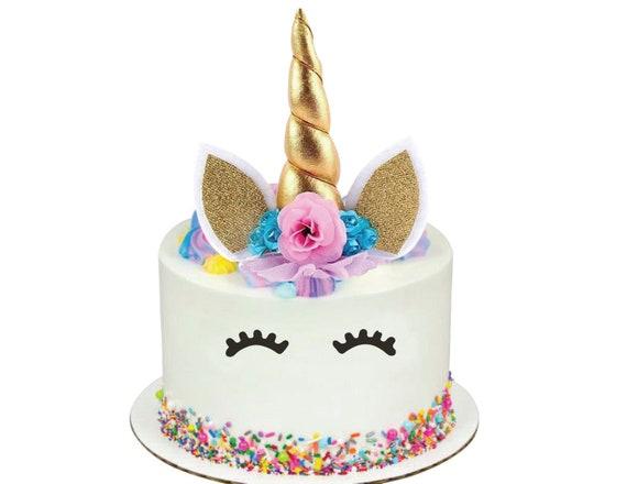 Tremendous Unicorn Cake Topper Unicorn Birthday Unicorn Party Etsy Birthday Cards Printable Inklcafe Filternl