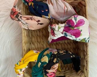 Confezione da 6 fasce da donna Boho Fasce per capelli elastici vintage con nodo intrecciato Accessori per capelli avvolgenti per ragazze Donna