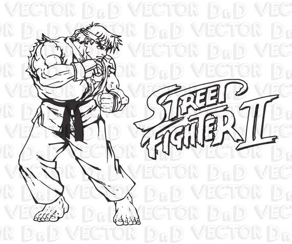Street Fighter Vector Svg Ryu Logo Capcom Ai Eps Pdf Png Etsy