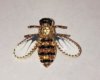 Insectology Sweather Chain California Bee Collar Chain Gold Color Insect Bug Bee Collar Brooch Queen Bee