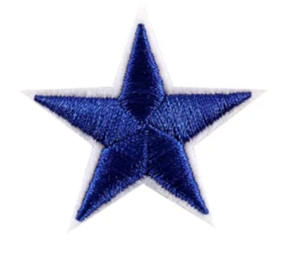Black White Embroidered Star Iron On Applique DIY Craft Patch Hot Fix 2.75