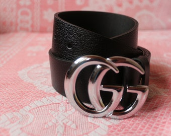 2db1a970a30610 Gucci Belt for Womens & men, GG Leather Belt, Gucci Genuine Leather Siver  Belt, Gift for him her 20% OFF TODAY