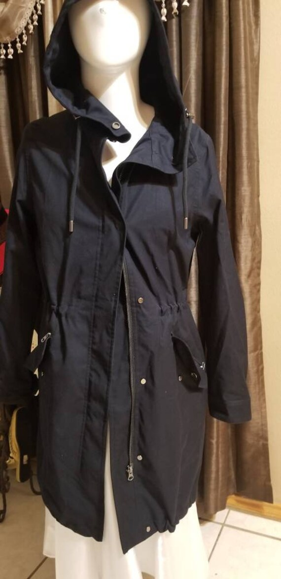 Intuition Paris Mens Trench coat-Navy Blue