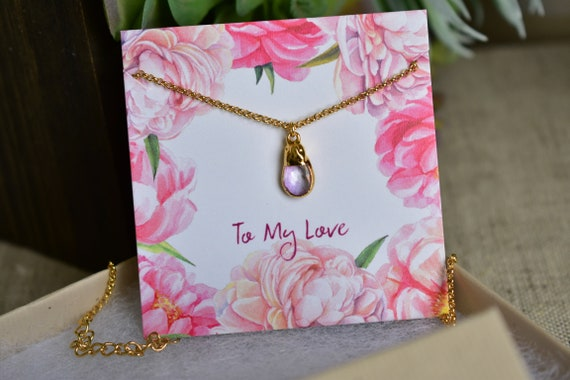 Birthday Romance Love Gift Necklace: Anniversary Jewelry Present Husband to Wife Gold Heart Locket Valentine/'s Day Pendant gift idea