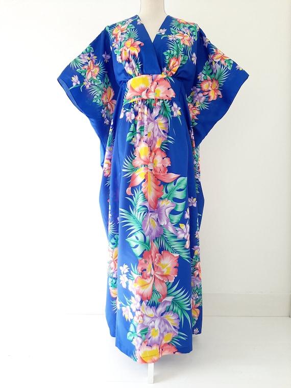 Vintage 1970s Mint Royal Creations Hawaiian Kimono