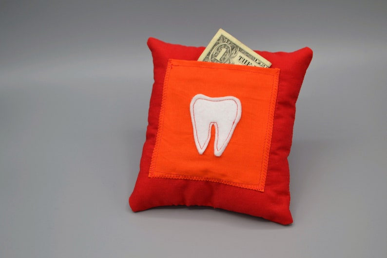 Red and Orange Toothfairy Pillow