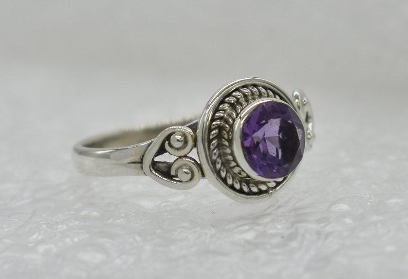 Amethyst Gemstone 925 Sterling Silver Ring Natural Purple Amethyst Ring Free Shipping American Seller RJ-878