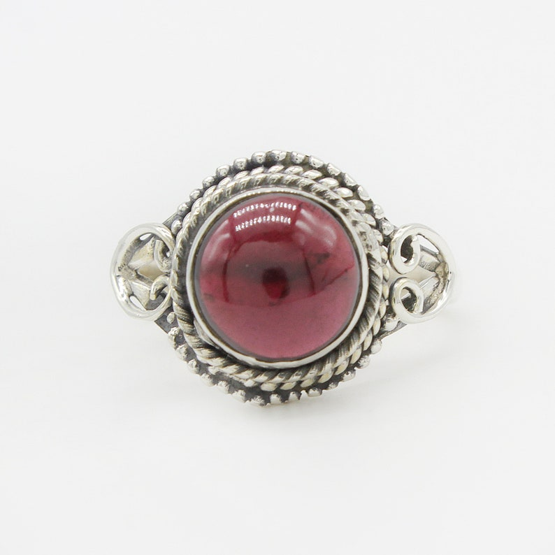 Free Shipping Natural Garnet Ring Garnet Gemstone American Seller AR893 925 Sterling Silver Ring