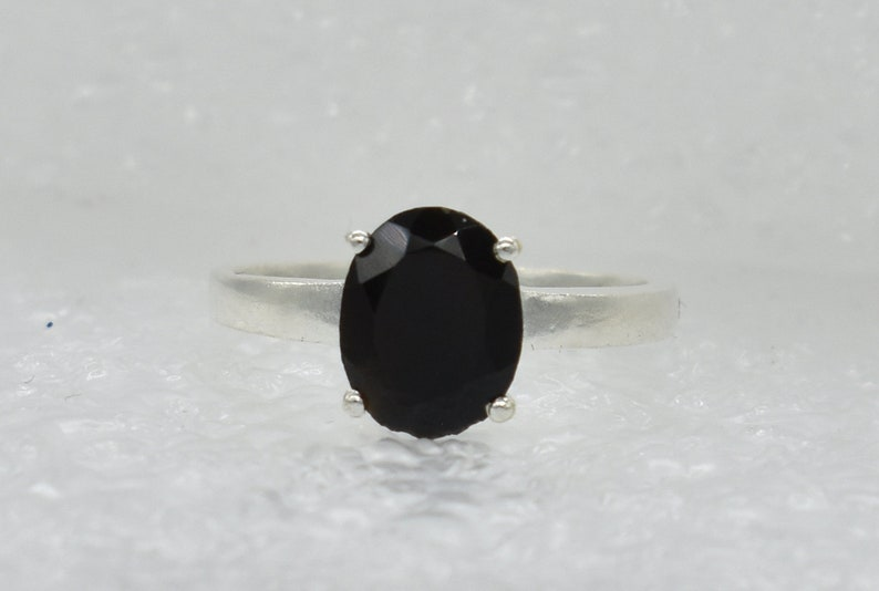 American Seller RJ-426 Onyx Gemstone Free Shipping Natural Onyx Ring 925 Sterling Silver Ring